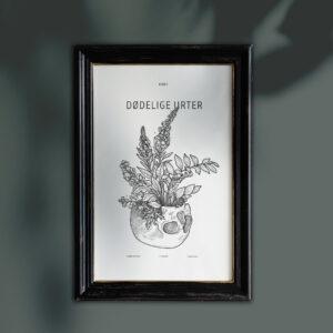 dødelige urter illustration